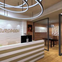 Hôtel Goumier à Marseille: Hôtels de style  par MEDAH ARCHITECTURE ET ECO LOGIS