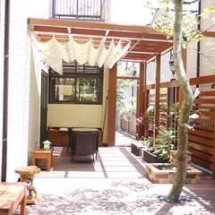 Casetas de jardín de estilo  de 大地工房景觀公司