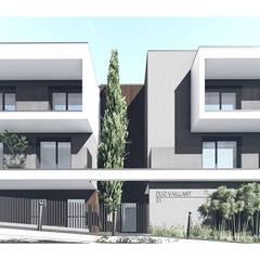 Edifício de habitação colectiva Vaillant: Casas  por OGGOstudioarchitects, unipessoal lda,Moderno