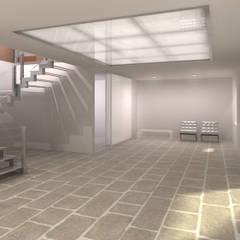 Pasillos y vestíbulos de estilo  por ARQZONE 3D+Design Studio