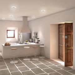 Cocinas equipadas de estilo  por ARQZONE 3D+Design Studio