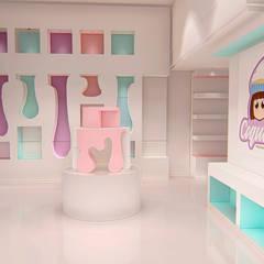Confitería Coquitos: Espacios comerciales de estilo  por GR arte & diseño