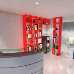 Oficina Alatorre: Edificios de Oficinas de estilo  por GR arte & diseño