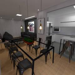 Sala de Jantar Industrial: Salas de jantar industriais por Arq. Bruno Luz