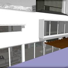 LOFT EMPRESARIAL: Estudios y oficinas de estilo moderno por MVQ ARQUITECTOS