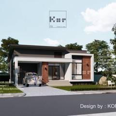 แบบบ้านชั้นเดียว MD1-003 By Kor Design:  บ้านเดี่ยว by Kor Design&Architecture