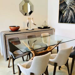 Mount Pavilia 傲瀧 | Clear Water Bay 西貢清水灣 | Hong Kong: modern Dining room by Nelson W Design