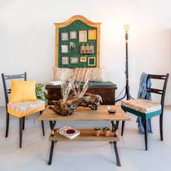 Ambiente generado con las piezas de la colección: Comedores de estilo rústico de Patricia Fernández