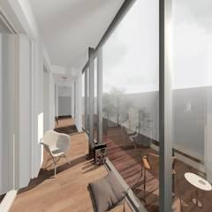 Apartamento T1 Avenidas Novas: Jardins de Inverno  por EU LISBOA
