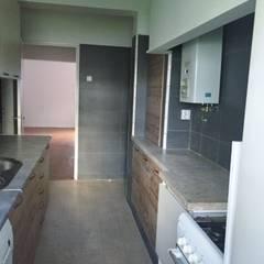 Apartamento T2 Benfica - Lisboa Cozinhas rústicas por EU LISBOA Rústico