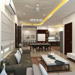 project vijayawada:  Living room by shree lalitha consultants