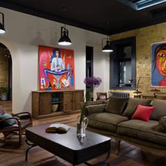 غرفة المعيشة تنفيذ Design Studio Yuriy Zimenko