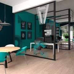 Diseño de oficina.: Oficinas y Tiendas de estilo  por Pragma-Diseño