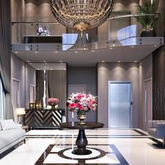 Projeto - Abudhabi Residencial Indaial: Corredores e halls de entrada  por Fran Arquitetura