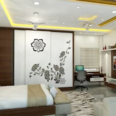 project miryalaguda:  Bedroom by shree lalitha consultants