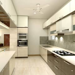 project miryalaguda:  Kitchen units by shree lalitha consultants