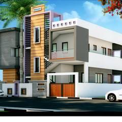 Casas de estilo  por PAVAN TECHNO CONSTRUCTIONS