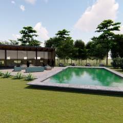 Piletas de jardín de estilo  por Civco Ltda