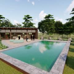 Hồ bơi trong vườn by Civco Ltda