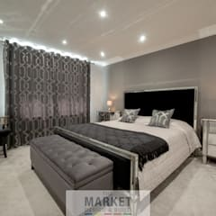 LOFT CONVERSION HOUSE EXTENSION AND FULL HOUSE REFURB IN BEACONSFIELD:  Bedroom by The Market Design & Build