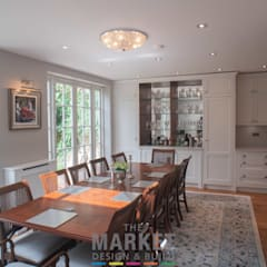 Rear Extension , Loft Conversion and Full House Refurn in Kew: modern Dining room by The Market Design & Build