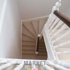 Rear Extension , Loft Conversion and Full House Refurn in Kew:  Stairs by The Market Design & Build