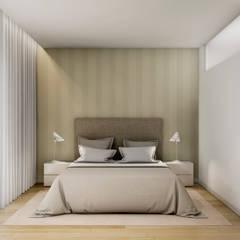 Suite acolhedora : Quartos  por Alma Braguesa Furniture
