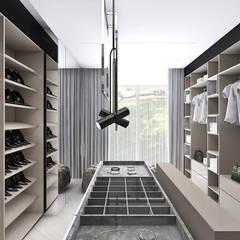 projekt garderoby: styl , w kategorii Garderoba zaprojektowany przez ARTDESIGN architektura wnętrz