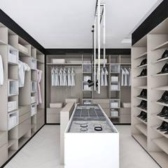 elegancka garderoba: styl , w kategorii Garderoba zaprojektowany przez ARTDESIGN architektura wnętrz