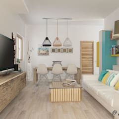 Living room by Nocera Kathia rendering progettazione e design