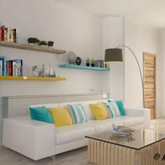 Casa di Marco: Soggiorno in stile  di Nocera Kathia rendering progettazione e design
