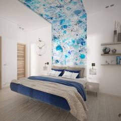 Dormitorios de estilo  por Nocera Kathia rendering progettazione e design