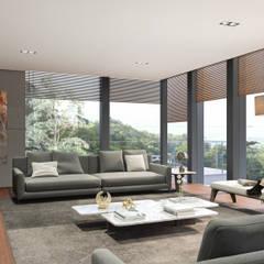 Cumbres de Acultzingo: Salas de estilo moderno por DOS Jaime Guzman Arquitectos