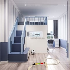 Thiết kế căn hộ Landmark 2 Vinhomes Central Park - Phong cách Tân Cổ Điển:  Phòng trẻ em by ICON INTERIOR
