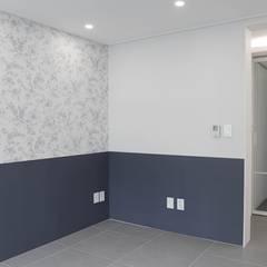 아기자기한 분위기의 싱글녀 하우스 , 동탄 반도유보라 24py: 홍예디자인의  서재 & 사무실