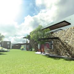 Jardín : Casas de estilo ecléctico por Taller de Materia Arquitectónica