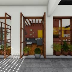 Vista desde Patio: Salas de estilo  por Taller de Materia Arquitectónica