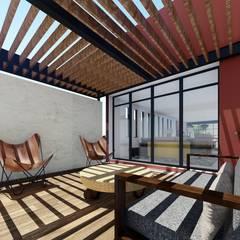 Pergolado: Terrazas de estilo  por Taller de Materia Arquitectónica