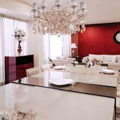 SALA DE JANTAR: Salas de jantar  por Adriana Scartaris: Design e Interiores em São Paulo