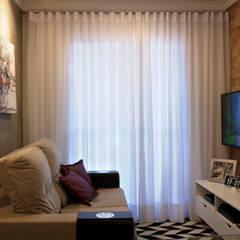 Apartamento D&C: Salas de estar escandinavas por Doce Arquitetura