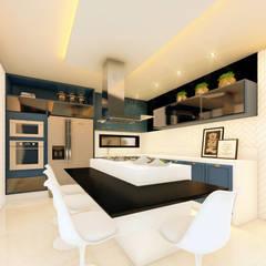 01: Cozinhas embutidas  por Habitus Arquitetura