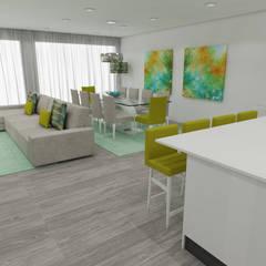 Atelier Kátia Koelho:  tarz Yemek Odası