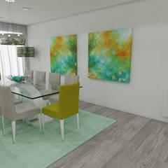 Projeto de Moradia em Esposende já em Produção: Salas de jantar  por Atelier Kátia Koelho