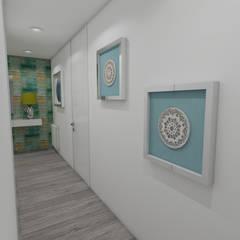 Projeto de Moradia em Esposende já em Produção: Corredores e halls de entrada  por Atelier Kátia Koelho