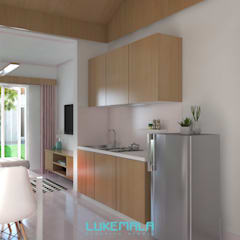 Interior Tipe 36/60:  Dapur by Lukemala Creative Studio
