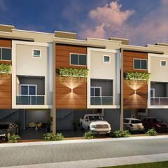 Condomínio geminado triplex: Casas geminadas  por Deborah Iachinski Arquitetura & Interiores