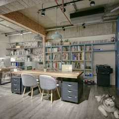 Oficinas de estilo  por 澄月室內設計