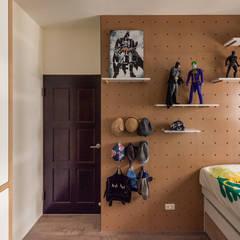 غرفة نوم أولاد تنفيذ 澄月室內設計