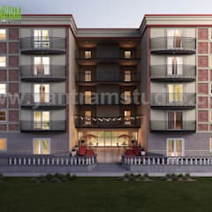 Residential Apartment Renovation Concept Rendering Ideas:  Multi-Family house by Yantram Architectural Design Studio