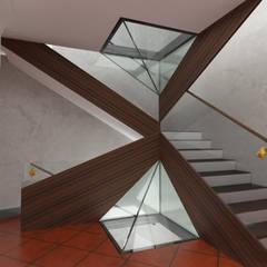 Villa nell'Agro Romano: Scale in stile  di Studio Angelo Luigi Tartaglia